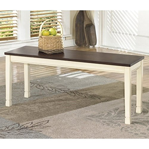 (Signature Design by Ashley Large Dining Bench in Brown and Cottage White)