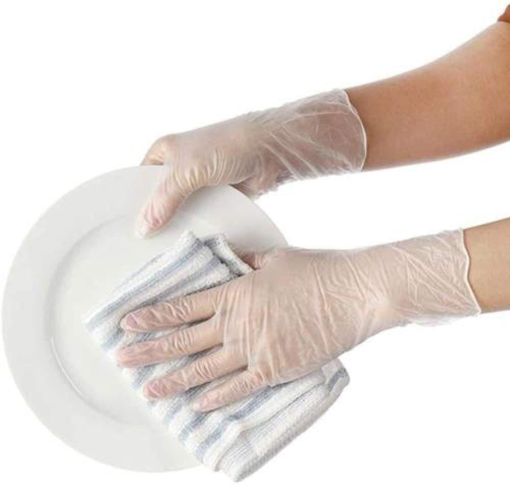 Ambiental Anti-bacterianaGuantes latex desechables de l/átex de nitrilo,para limpiar la cocina dom/éstica protecci/ón 100 Packs guantes desechables