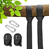 WADEO Tree Swing Hanging Kit 10 ft Extra Long Holds 2200lbs for Round Web Tire Saucer Swing Hammock Adjustable Rope
