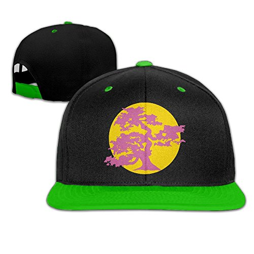 NMG-02 Japanese Bonsai Tree and Sun Men Womens Snapback Hats,Classic Flat Bill Caps for Four Seasons from NMG-02