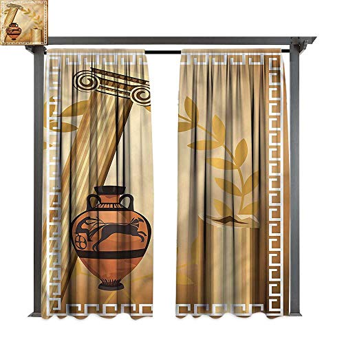 cobeDecor Thermal Insulated Drapes Toga Party Hellenic Heritage for Lawn & Garden, Water & Wind Proof W120 xL84