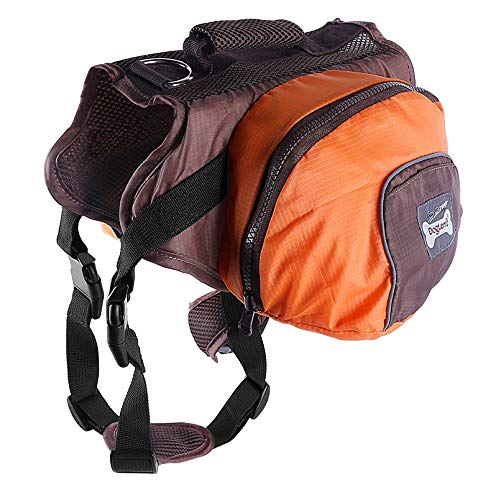 orange SFidgetKute Pet Pack Dog Saddle Bag Backpack Carrier Outdoor Travel Hiking Camping Harness Pink XL