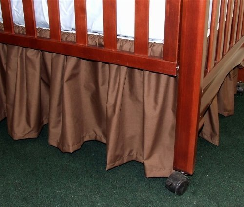(Gathered Crib Dust Ruffle 15 inches Color: Cocoa Brown)