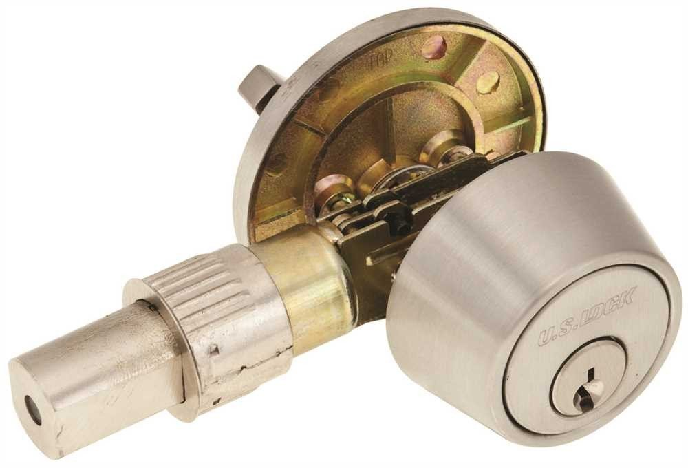 Us Lock Single Cylinder Big Duty Deadbolt, 2-3/8 In. Drive-In, Brushed Stainless Steel by U.S Lock