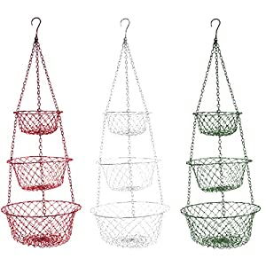 High Quality Fox Run 3 Tier Hanging Fruit Vegetable Kitchen Storage Basket   Colors May  Vary