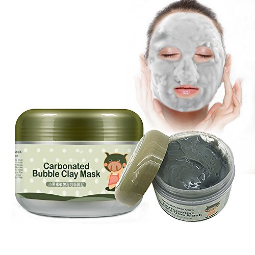 Carbonated Bubble Clay Mask,INST Bubbles Origin Beauty Black Mud Mask,Moisturize Deep Cleansing Face Mask 3.52 oz