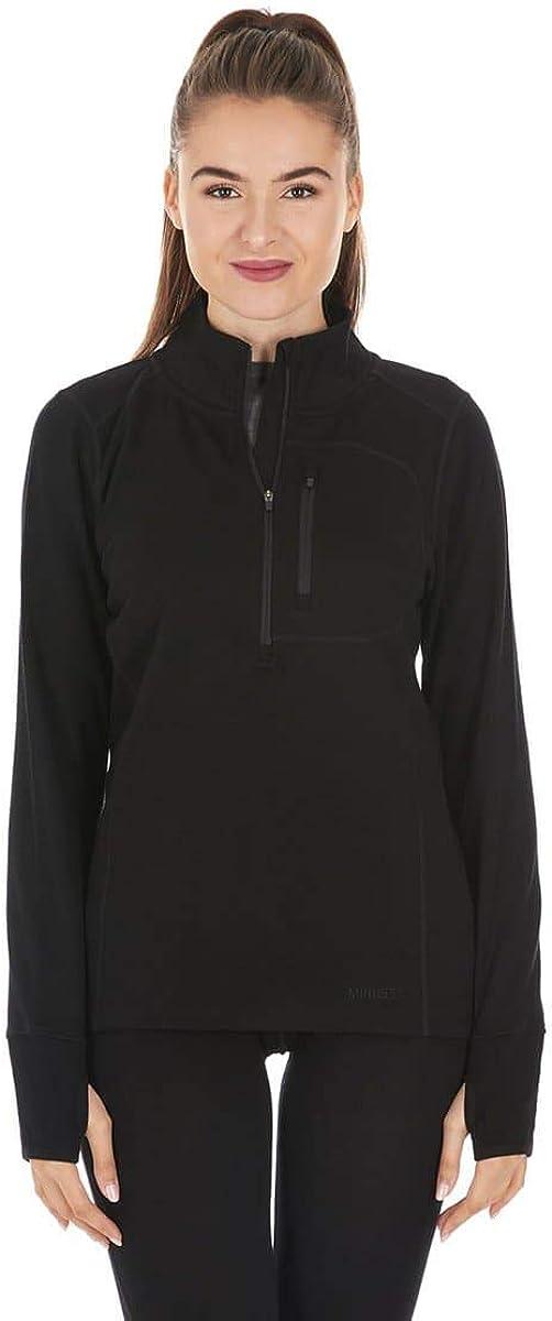 Minus33 Merino Wool 8040 Wilderness Women's Expedition Weight ¼ Zip – Anti Odor No Itch Renewable Fabric