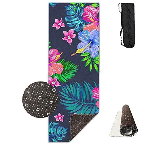 Yoga Mat Hawaiian Colorful Flower Funny Yoga Towel Exercise Mat Non-slip High Density