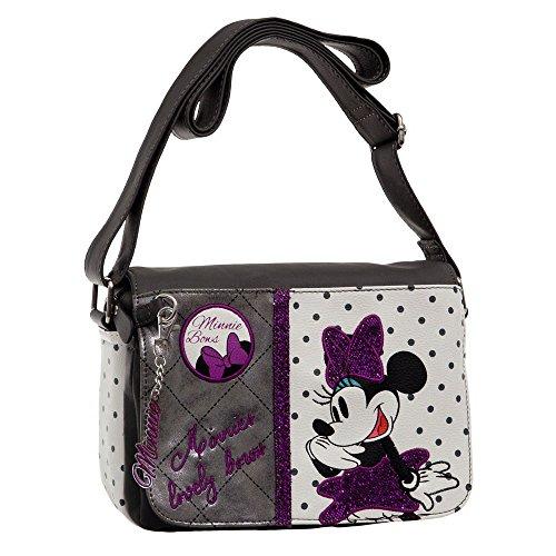 Disney 3085151 Minnie Bows Borsa Messenger, Litri 2.81, Bianco