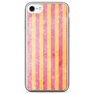 iPhone 8 Transparent Edge Phone case Pink And Yellow Phone Case Pattern Case