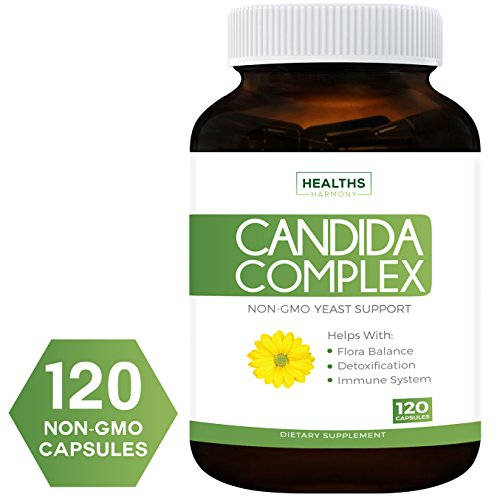 Best Candida Cleanse (Non-GMO) 120 Capsules: Extra Strength - Powerful Yeast Infection Treatment with Caprylic Acid, Oregano Oil & Probiotics to Clear Candida While Preventing ()