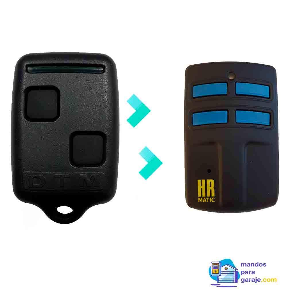 Mando de Garaje Universal HR MULTI 2 compatible DETUMANDO DTM ROLL 868 mandosparagaraje.com