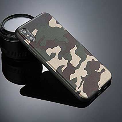 cheaper 781ab 48115 Excelsior Military Design Silicon Back Cover case for Apple iPhone X/Xs  (Green)