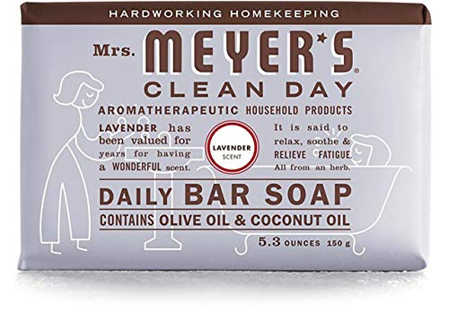 娯楽粒取り付け2 Packs of Mrs. Meyer's Bar Soap - Lavender - 5.3 Oz by Mrs. Meyer's Clean Day