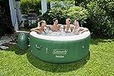 Coleman SaluSpa Inflatable Hot Tub Spa, Green & White