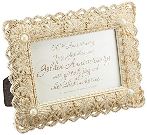 Faithworks Framed Tabletop Gift, 50th Anniversary by CB Gift