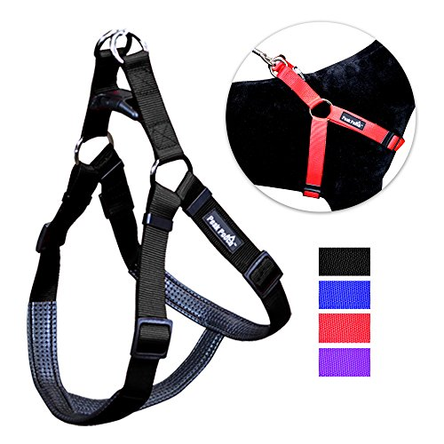 Peak Pooch No Pull Padded Comfort Nylon Dog Walking Harness for Small, Medium, and Large -