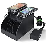 ChargeTech - CS10 Cell Phone Charging Station Dock w/ 10 Universal Charging Tips Included for All Devices: iPhone, iPad, Samsung Galaxy, Note Tab, Nexus, HTC, Motorola, Nokia, GoPro, Power Bank