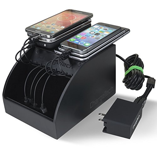 ChargeTech - CS10 Cell Phone Charging Station Dock w/ 10 Universal Charging Tips Included for All Devices: iPhone, iPad, Samsung Galaxy, Note Tab, Nexus, HTC, Motorola, Nokia, GoPro, Power Bank by ChargeTech