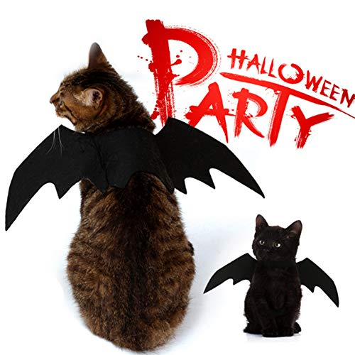 NACOCO Pet Halloween Bat Wings Costume Cool Batman Design Party Clothes for Cat Small Dog