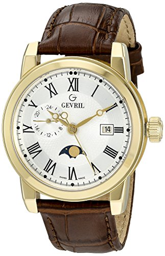 Gevril Men's 2531 CORTLAND Analog Display Swiss Quartz Brown Watch