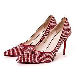 Elegant Rhinestone Pointed Toe Wedding Shoes