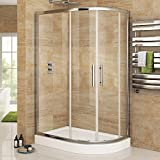 1200 x 900 mm Luxury Right Hand Quadrant Easy Clean Shower Enclosure + Plinth Tray Set by iBathUK