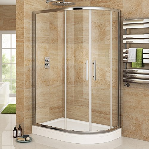 1200 x 900 mm Luxury Right Hand Quadrant Easy Clean Shower Enclosure + Plinth Tray Set by iBathUK by iBathUK (Image #1)