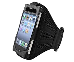 Alto Valor de malla Negro Running cubierta de la caja del brazal de Apple Iphone 4s / 4