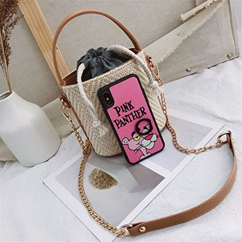 Women Lace Travel Ss3080 N Armor Lady Beach White Casual Bag Bags White Beach Crossbody Bag Mini Messenger Straw vUE8gx