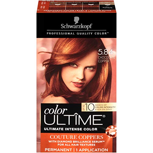 Schwarzkopf Color Ultime Hair Color Cream 584 Chocolate Copper Packaging May Vary