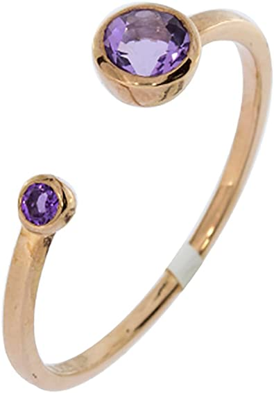 gold plated with Amethyst stone Sterling silver ring