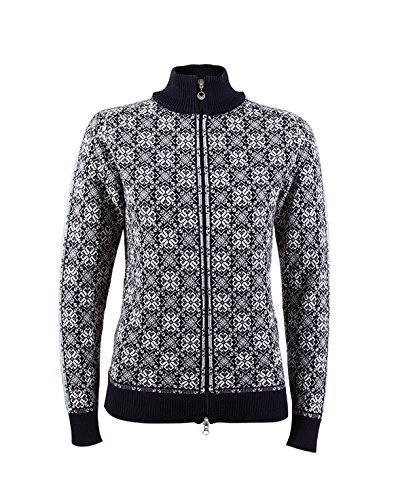 Frida chaqueta de lana para mujer Black/Off-White/Schiefer