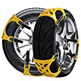 Car Tire Chains Anti-Slip Snow Chains Ice Chains Cable Traction Mud Chains Slush Chains Snow Tire Chains All Season Tire Anti-Slip Chains for Cars 6PCs for Tire Width 165-265mm/6.5-10.4''