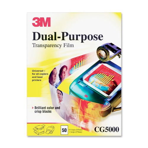 3M CG5000 Transparency Film for Copiers and Laser Printers (50 Per Box)