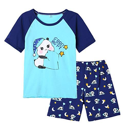 MyFav Big Girls' Summer Pajama Sets Cute Patterns Sleepwears Cartoon Children PJS