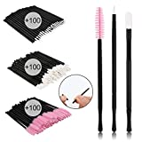 Accmor 300 Pcs Disposable Lip Brushes Makeup Brush Lipstick Lip Gloss Wands Applicator Makeup Beauty Tool Kits
