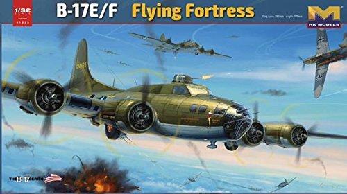 HK Models 1:32 B-17 E/F Flying Fortress - Plastic Model Kit #01E05