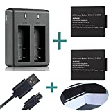 First Pilot Action Camera Battery Charger 2 PCS 3.7V 900 mAh Rechargeable Lithium Battery With Dual Charger For SJ4000 SJ5000 SJCAM SJ5000 More Plus 2 pcs 5mm Battery Straps