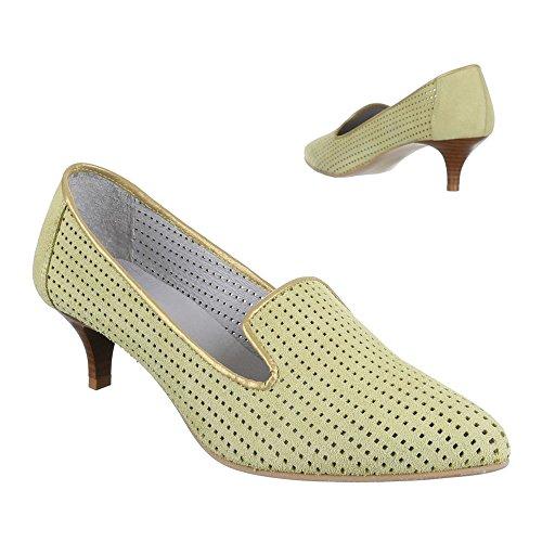 Ital-Design - Zapatos de Tacón Mujer Verde - verde claro