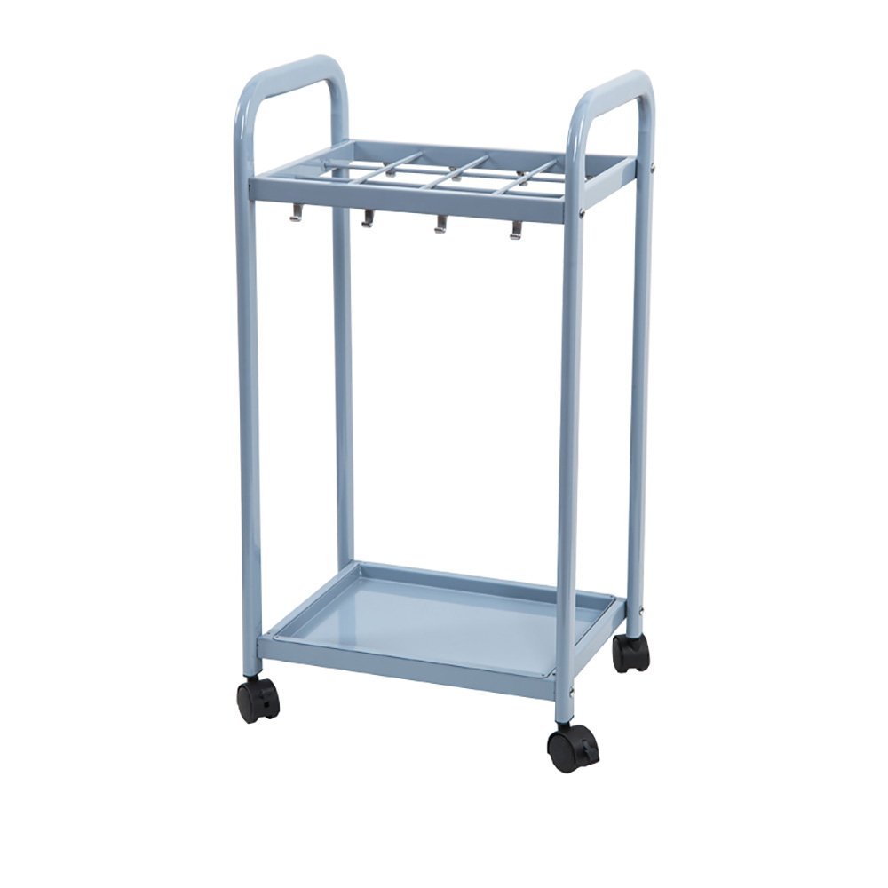 NYDZ Simple and Stylish Movable Metal Umbrella Stand,12/18/24 Holes with Drip Tray and Wheels,Home Office Hotel Lobby Umbrella Storage Rack Blue (Size : S)