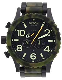 Nixon 51 30 Chrono Watch One Size Matte Black Camo
