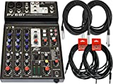 6 channel digital mixer - Peavey PV 6 BT 4-Channel Bluetooth Mixer w/ 4 Cables