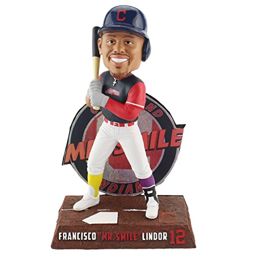 Forever Collectibles Francisco Lindor Cleveland Indians Players Weekend - Mr. Smile Bobblehead MLB