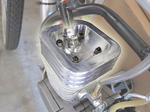 - BBR Tuning Billet Aluminum High Compression 2-Stroke Motorized Bicycle Engine Racing Cylinder Head - Gas Bike Racing Cylinder Head Upgrade