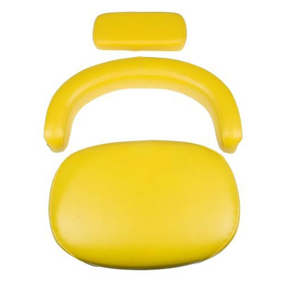 TY9326 New John Deere Yellow 3 Piece Seat Cushion Set Wood 3010 4020 4230 4430 + Aftermarket John Deere