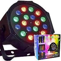 Refletor Canhao 18 Leds Display Digital RGB Mini Strobo Festas Luz Iluminacao Bivolt (Led Mini Par 18 pcs)