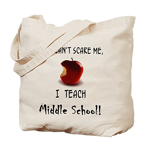CafePress no scare middle school teacher Tote Bag - Standard by CafePress