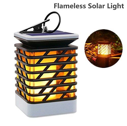 Outdoor Solar Lantern Flameless, Elelink Solar Hanging Light for Pathway Garedn Patio Umbrella Lamp Lawn Decord (Yellow)