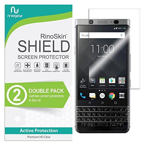 (2-Pack) RinoGear BlackBerry KEYone Screen Protector Case Friendly Screen Protector for BlackBerry KEYone Accessory Full Coverage Clear Film